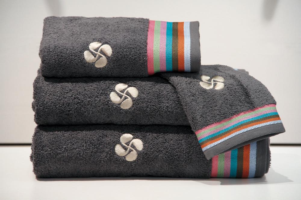 coffrets cadeaux serviettes de bains gant - gris