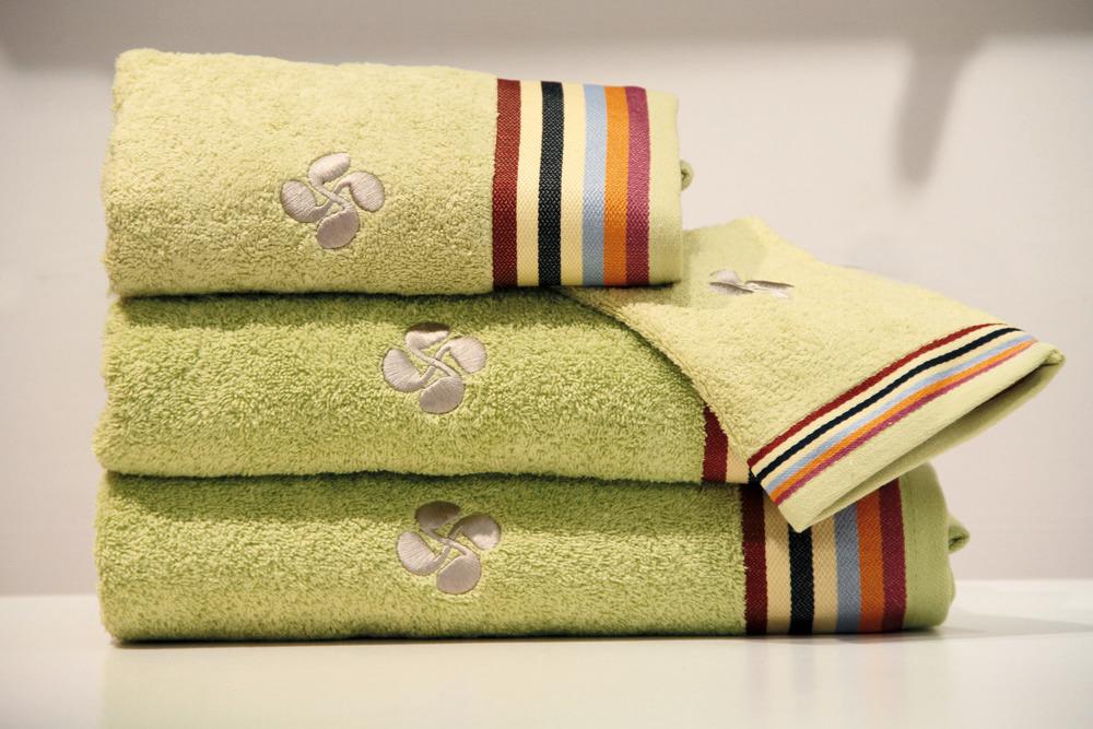 coffrets cadeaux serviettes de bains gant - vert